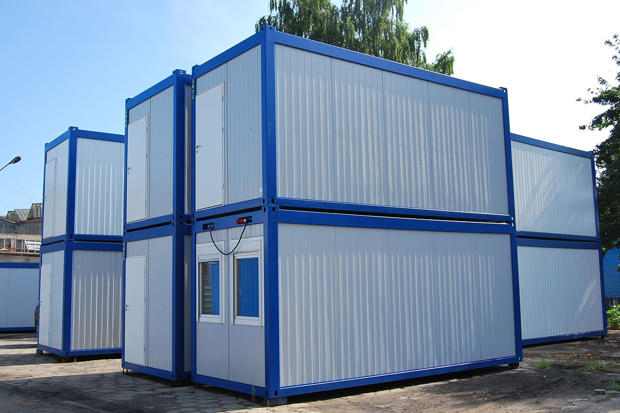Wohncontainer Burocontainer Container Fluchtlinge Polen